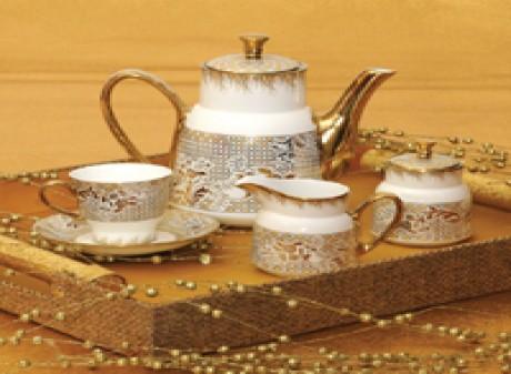 GOLDLINE TEA SET